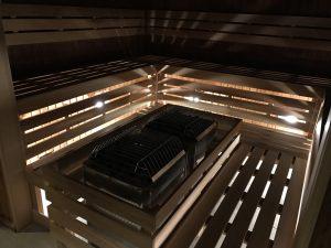 Le sauna de l'Hôtel Chateau Laurier Québec